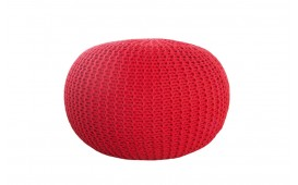 Tabouret Design KNITTED RED