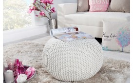 Pouf di design CUDDLE WHITE
