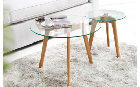 Table basse Design SCENA GLASS 2er Set