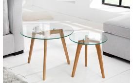 Designer Couchtisch SCENA GLASS 2er Set