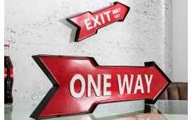 Designer Schild One Way