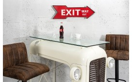 Schild Exit Way Out rot