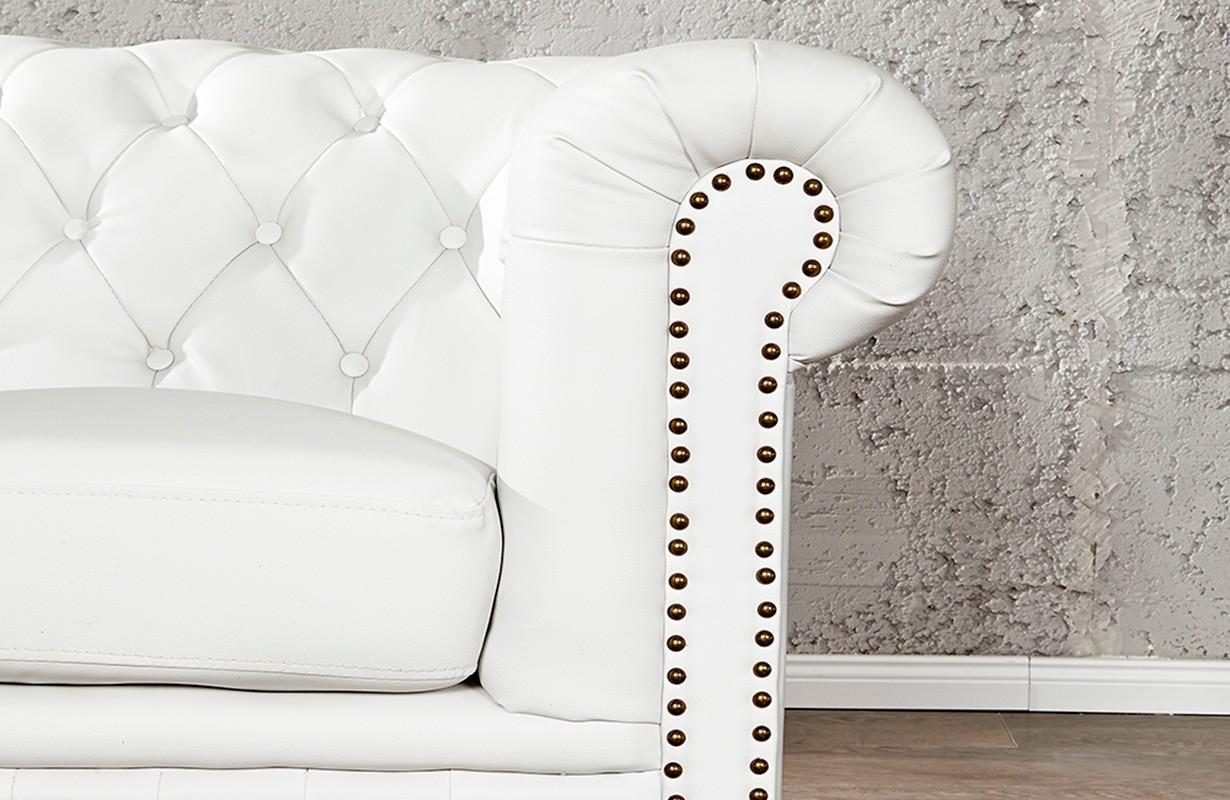 designersofa chesterfield 3er white bei nativo m bel schweiz. Black Bedroom Furniture Sets. Home Design Ideas
