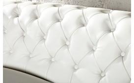 Sofa CHESTERFIELD 3er weiss matt m. Nieten (3-Sitzer)
