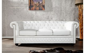 Divano CHESTERFIELD WHITE 3 posti