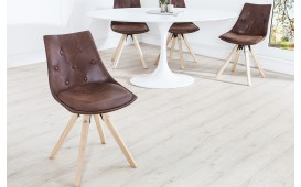 Designer Stuhl BRIT ANTIK BROWN