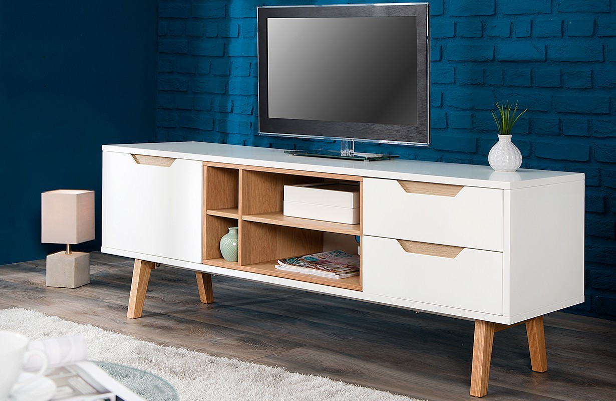 Meuble tv design man wood nativo meuble design for Meubles et design