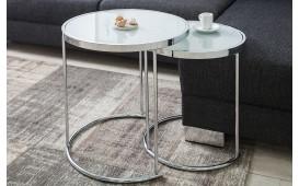 Table basse Design MOON SILVER 2er SET