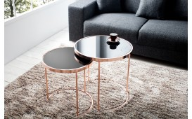 Table basse Design MOON GOLD 2er SET
