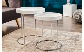 Table d'appoint Design DARKAZ WHITE 2er SET
