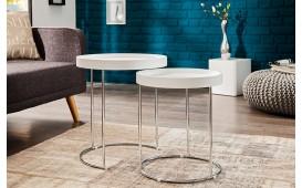 Table d'appoint Design DARKAZ WHITE 2er SET