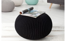 Pouf di design CUDDLE BLACK