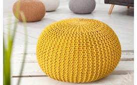Pouf di design CUDDLE YELLOW