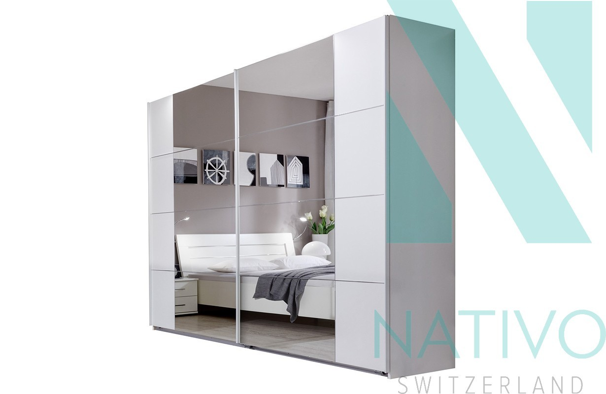 kleiderschrank mit schiebet ren david von nativo m bel schweiz. Black Bedroom Furniture Sets. Home Design Ideas