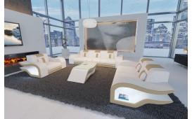 Designer Sofa HERMES 3+2+1 mit LED Beleuchtung