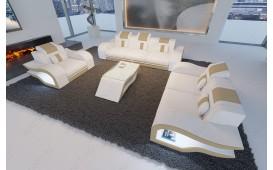 Canapé Design HERMES 3+2+1 avec éclairage LED