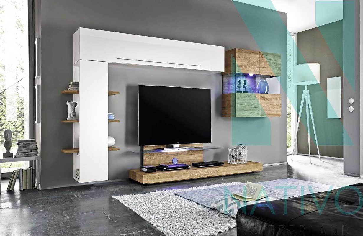 Designer Wohnwand Campania Nativo Moebel Schweiz