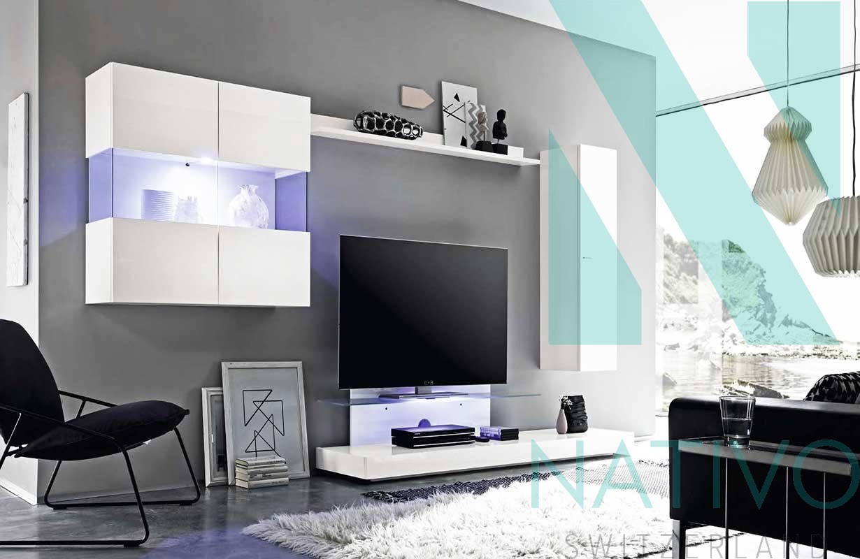 meuble tv mural molise nativo magasin de meubles. Black Bedroom Furniture Sets. Home Design Ideas