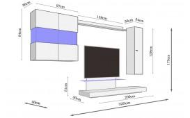 Meuble TV mural MOLISE