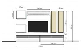 Designer Wohnwand ASTI
