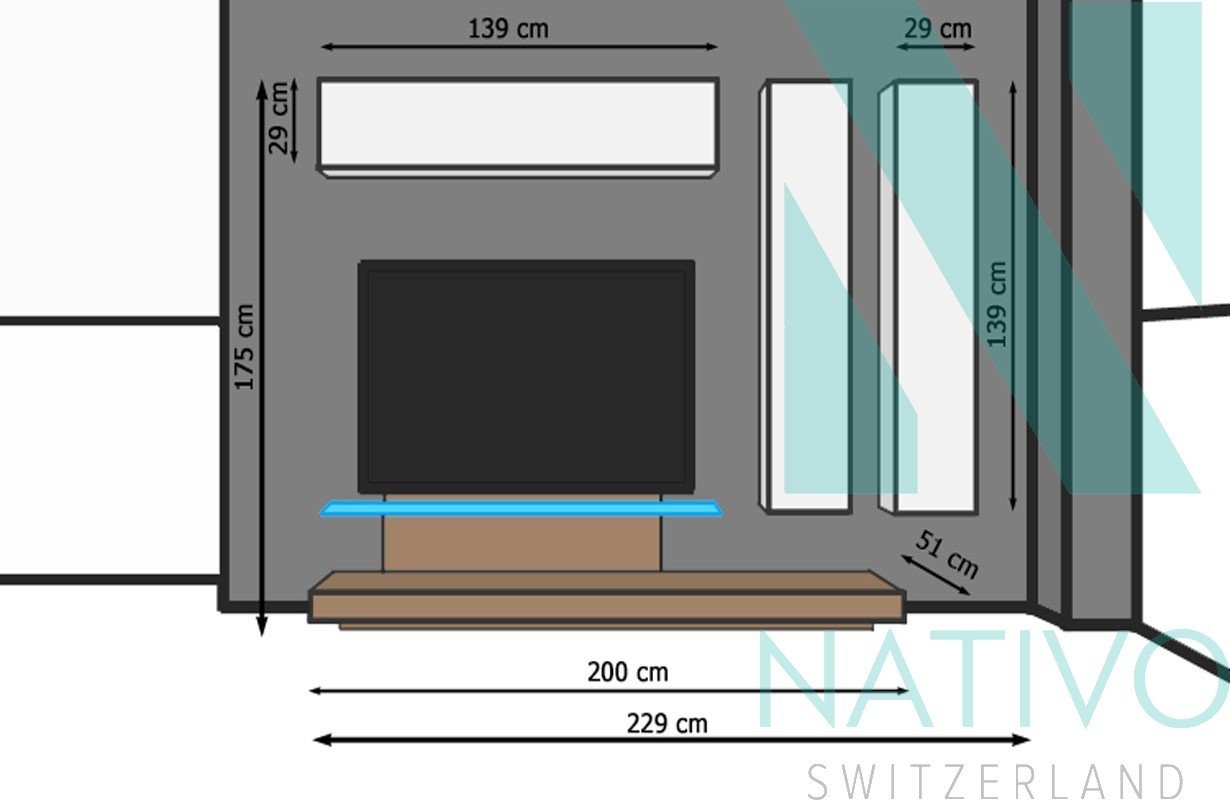 Mobile tv savona nativo mobili catalogo - Mobile tv a parete ...