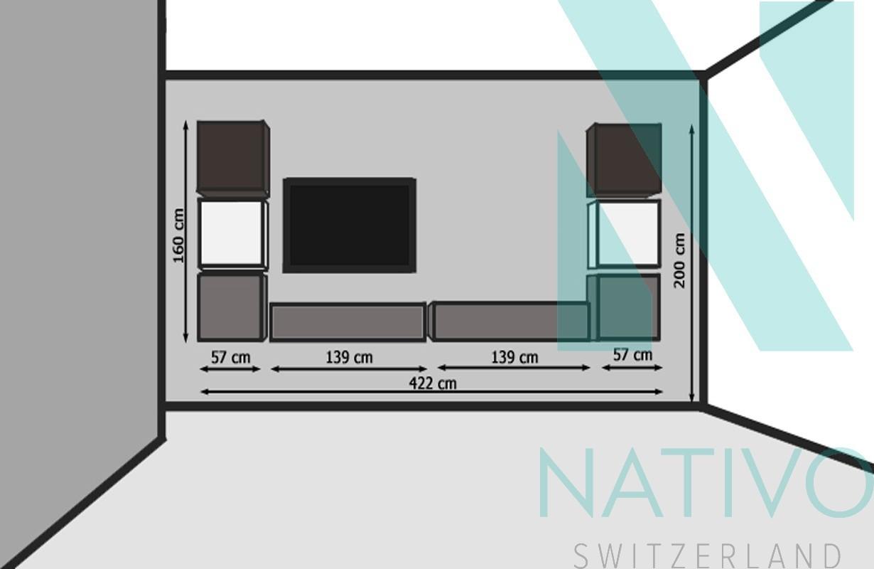 Designer wohnwand vercelli nativo moebel schweiz for Designer wohnwand