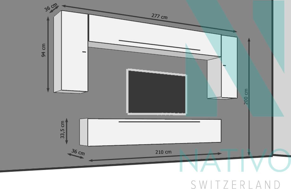 Mobile tv bologna nativo mobili salotto - Mobile tv a parete ...