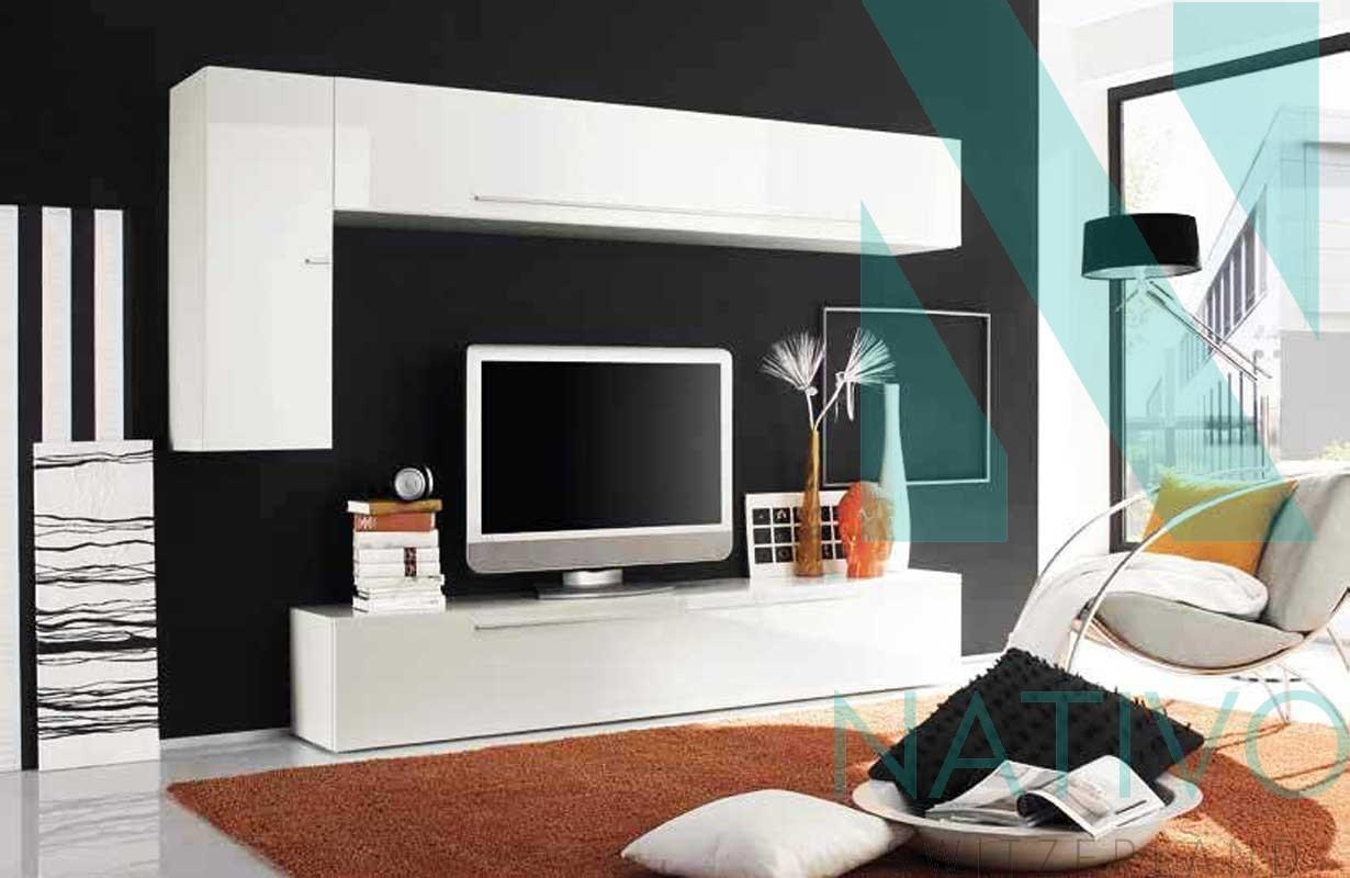 Meubles Pour Salon Nativo Meuble Tv Mural Lazio # Meuble Mural Pour Tv