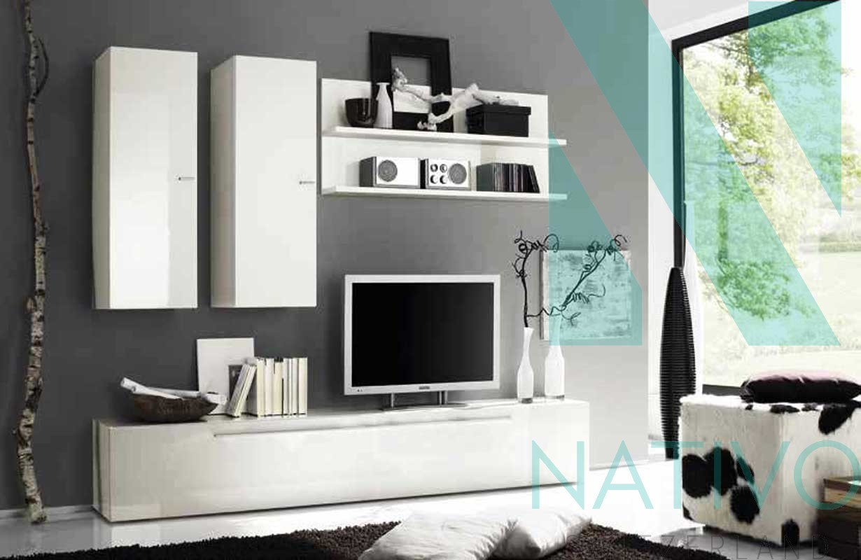 excellent meuble tv mural catanzaro with nativo meuble. Black Bedroom Furniture Sets. Home Design Ideas