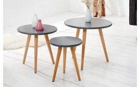 Tavolino d'appoggio di design MAN 3ER SET GRAPHIT
