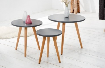 Table d'appoint Design MAN 3ER SET GRAPHIT