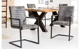2 x Designer Stuhl STATE ANTIK GREY
