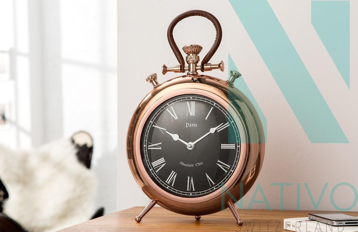 horloge design deko kupfer - nativo meuble moderne
