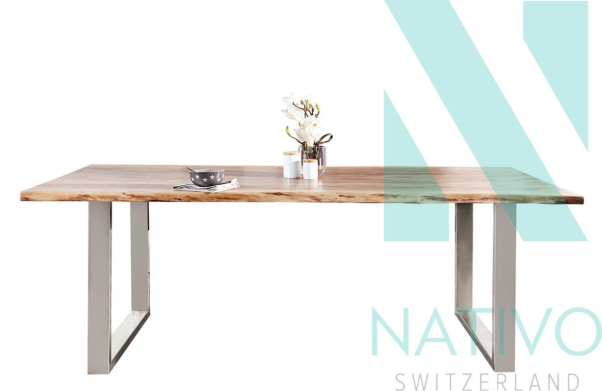 meuble en bois massif salle manger table taurus ii 200 cm. Black Bedroom Furniture Sets. Home Design Ideas
