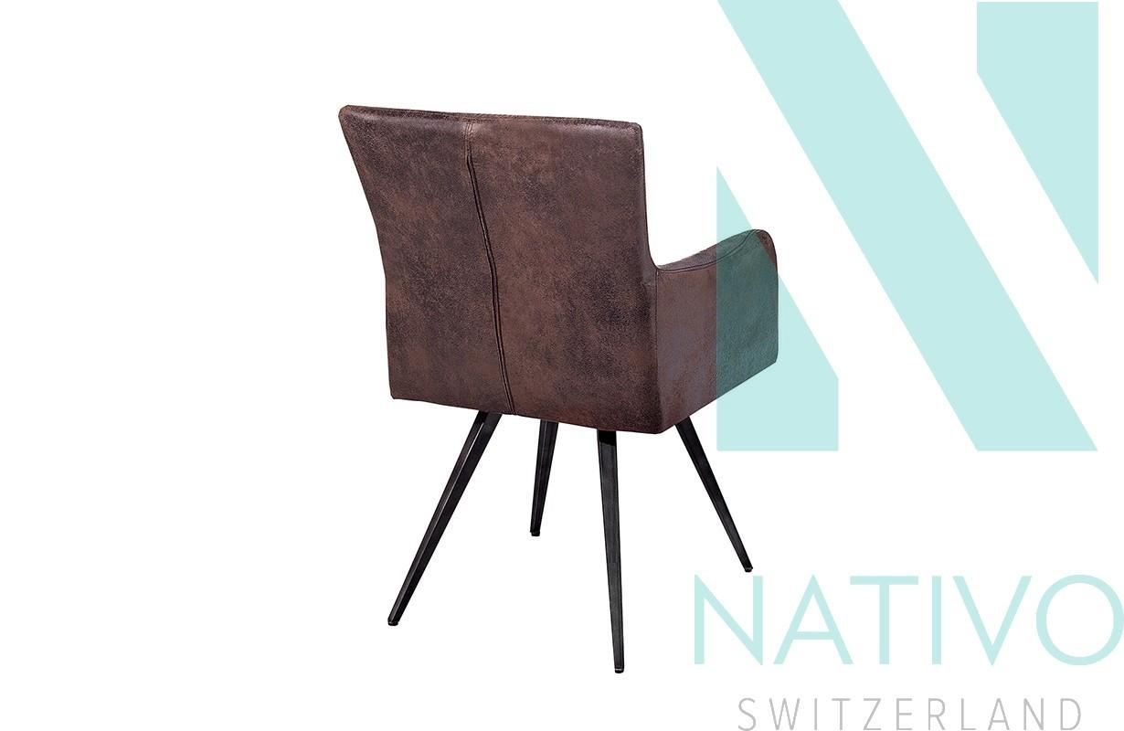 Sedie ticino roster brown nativo arredamento moderno for Sedia di design