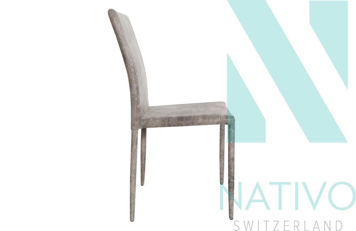 designer stuhl torino mit leder braun nativo schweiz. Black Bedroom Furniture Sets. Home Design Ideas