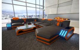 Designer Sofa CLERMONT XXL mit LED Beleuchtung