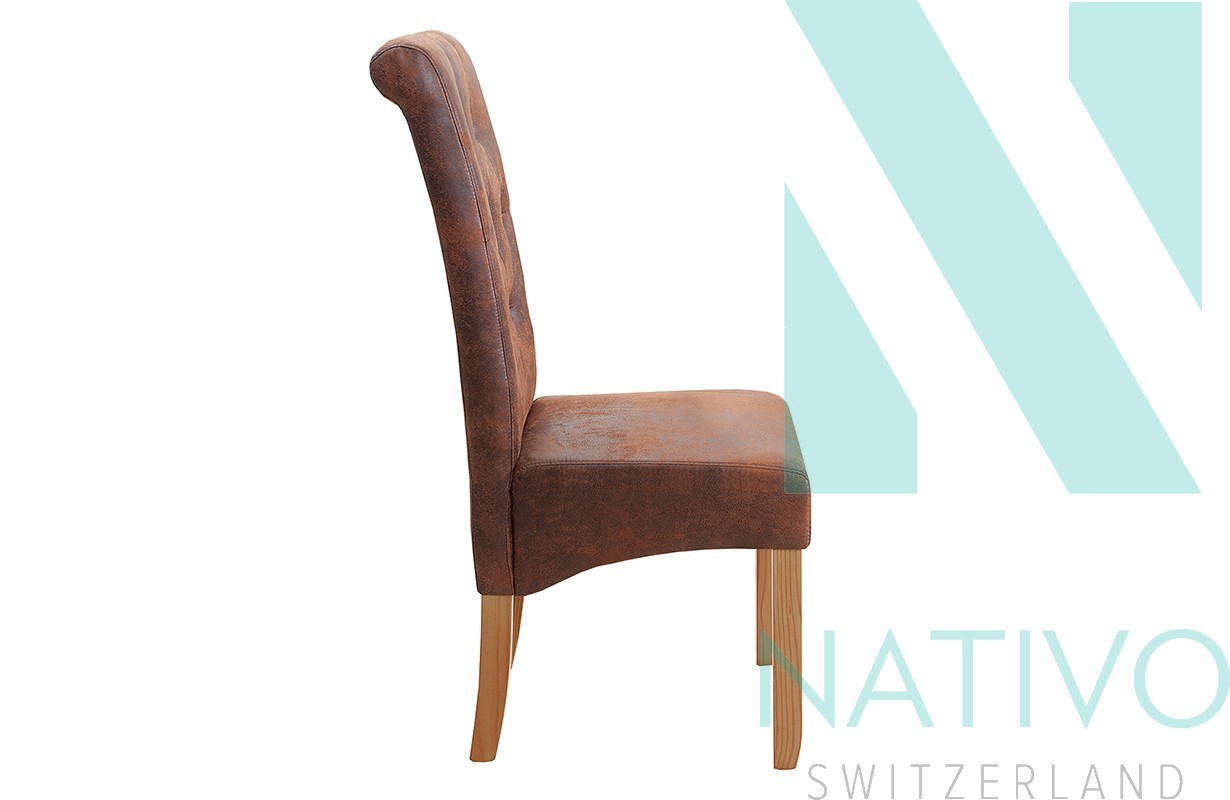 nativo meuble suisse chaise design rossi brown ii. Black Bedroom Furniture Sets. Home Design Ideas