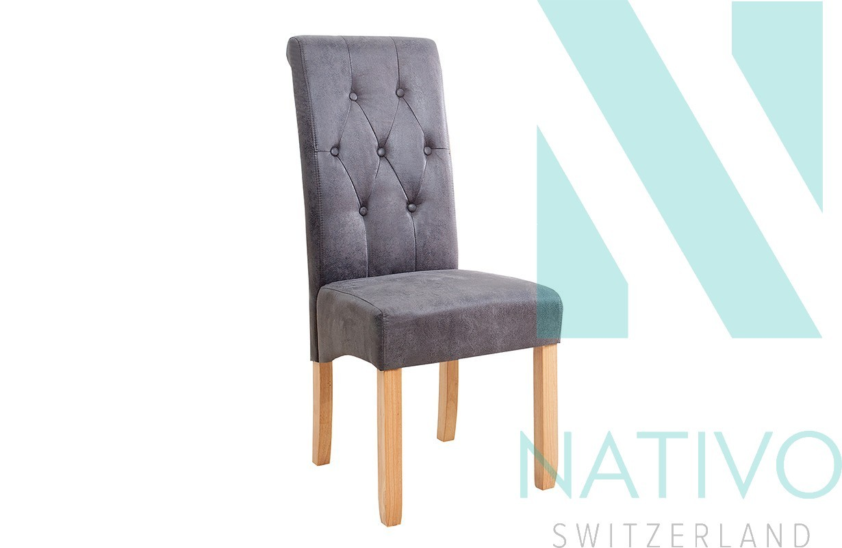 stuhl rossi mit nackenrolle grey bei nativo m bel schweiz. Black Bedroom Furniture Sets. Home Design Ideas