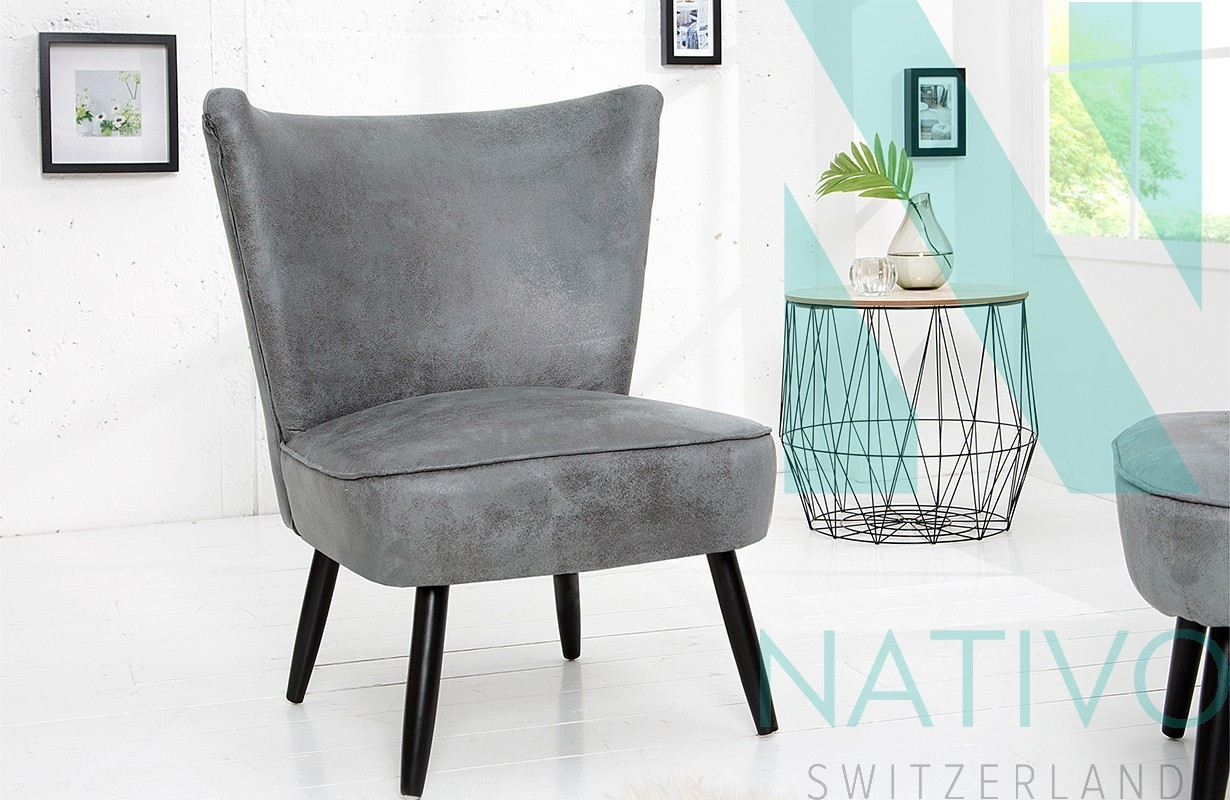 lounge sessel recent grey bei nativo m bel schweiz g nstig. Black Bedroom Furniture Sets. Home Design Ideas