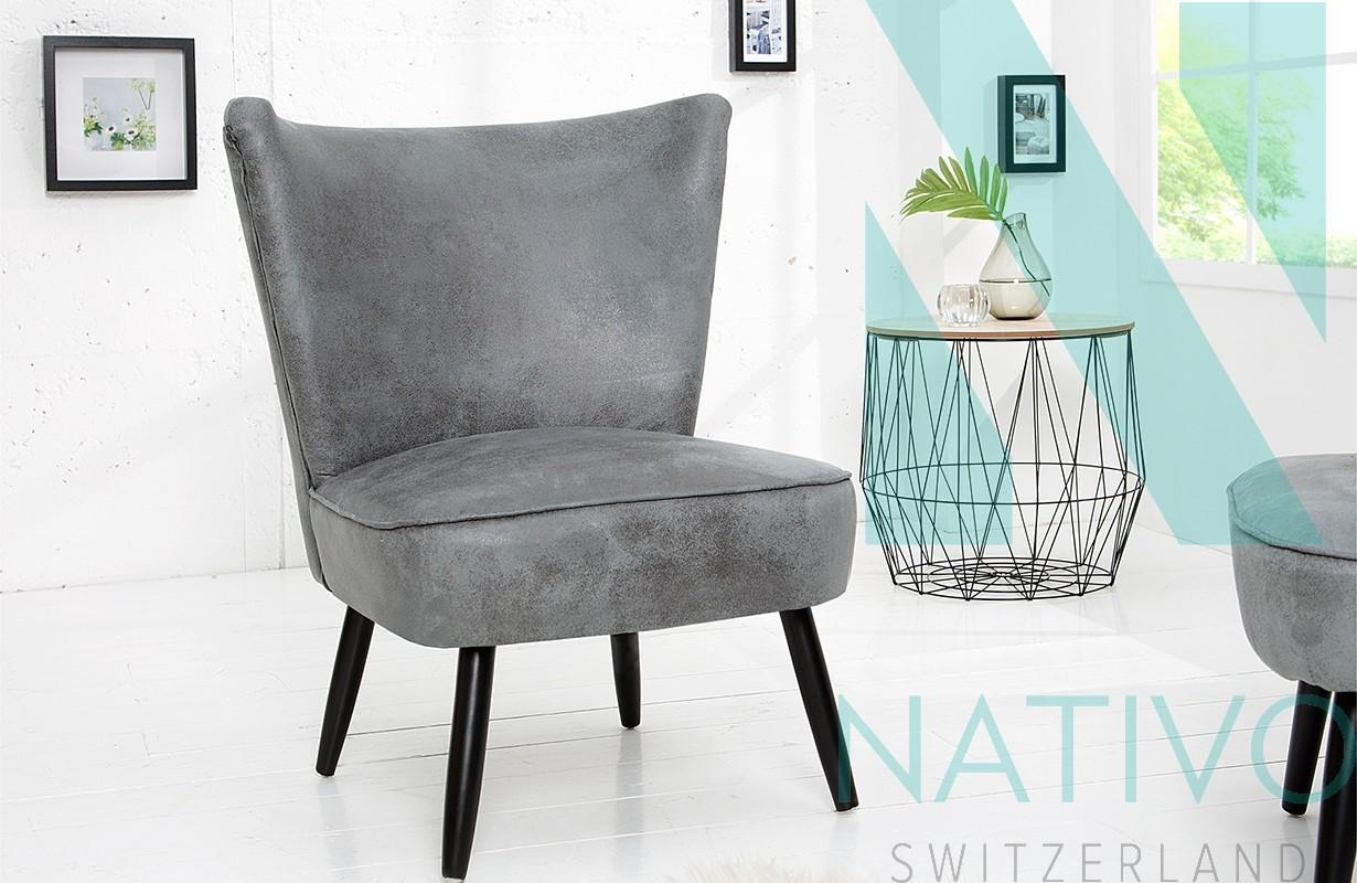 Lounge sessel recent grey bei nativo m bel schweiz g nstig for Designer sessel outlet