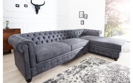 Sofa Garnitur CHESTERFIELD GREY
