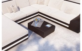 Designer Rattan Tisch TORRO