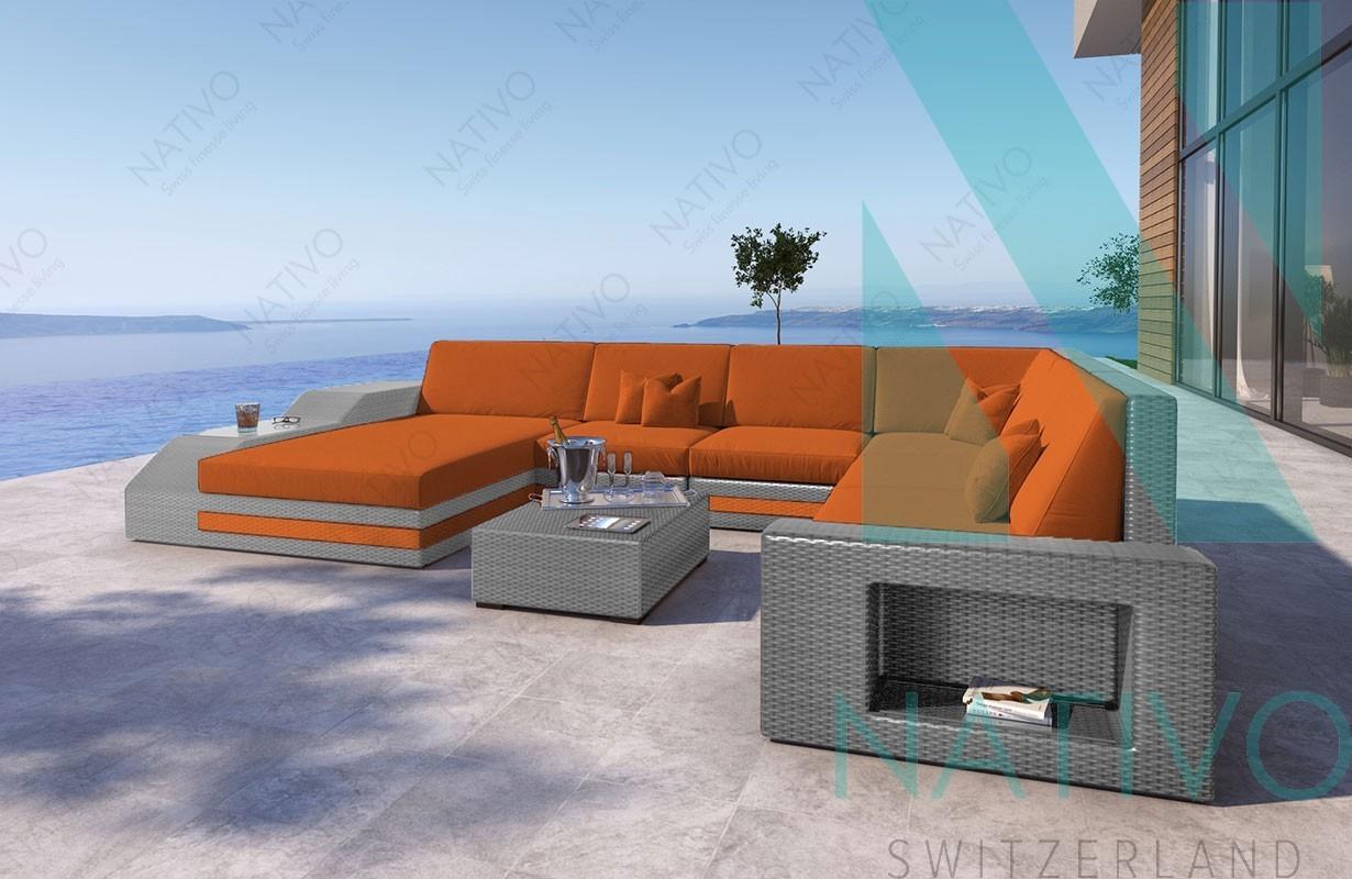 rattan sofa lounge torro xxl in rattan von nativo m bel. Black Bedroom Furniture Sets. Home Design Ideas