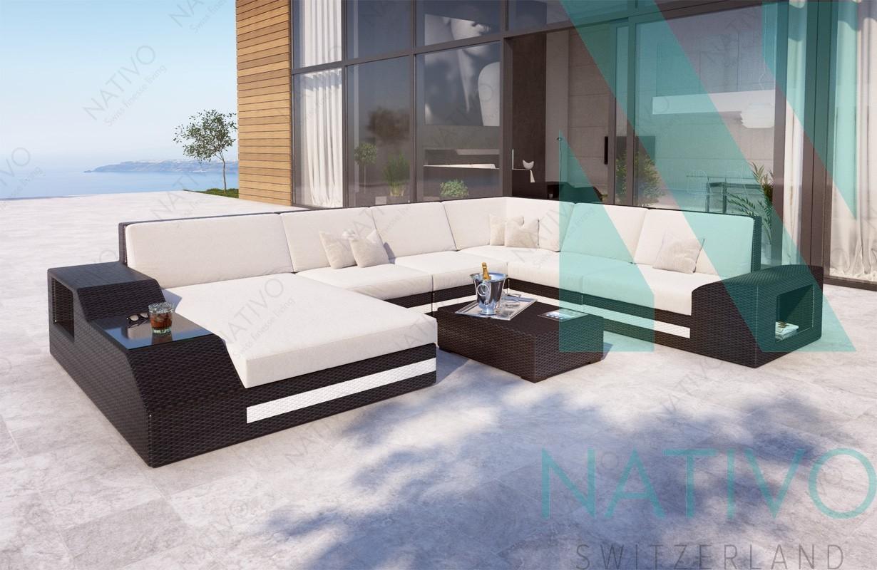 Designer Rattan Lounge Sofa TORRO XXL Mit LED Beleuchtung Von NATIVO Möbel  Schweiz ...