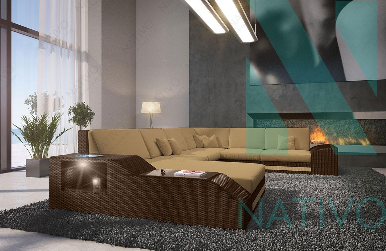 Rattan Sofa Lounge TORRO XXL in rattan von NATIVO Möbel