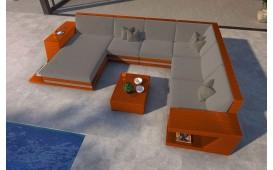 Designer Rattan Lounge Sofa CAREZZA XXL mit LED Beleuchtung von NATIVO Möbel Schweiz