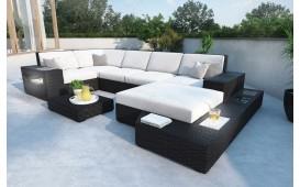 XXL Designer Rattan Lounge Sofa MESI mit LED Beleuchtung