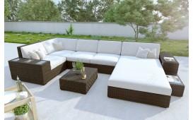 Designer Rattan Lounge Sofa NEYMAR XL mit LED Beleuchtung von NATIVO Möbel Schweiz