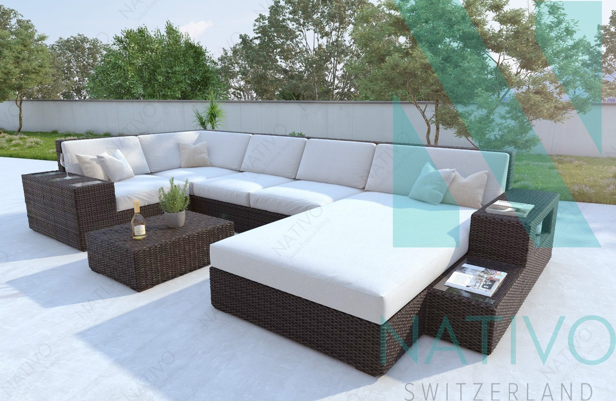 Polyrattan lounge affordable beautiful polyrattan lounge for Lounge gartenmobel rattan